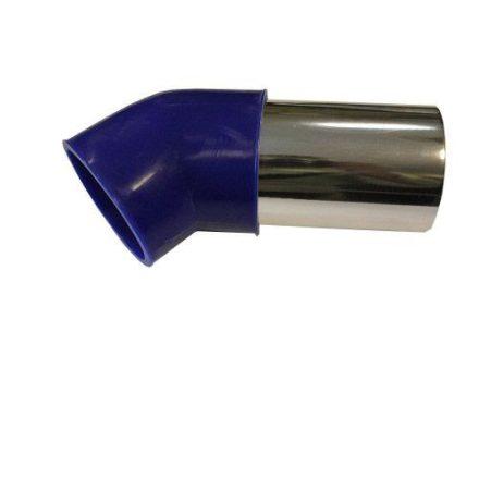 Alu könyök kék 76mm LG-JL-6021